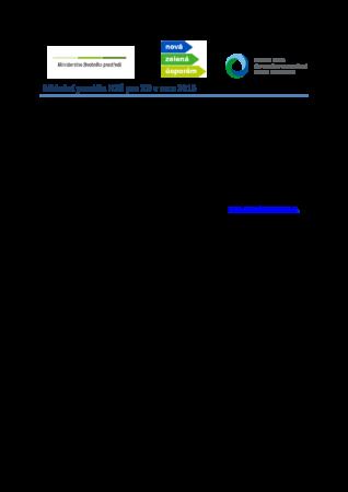 NZU podmínky 2015 pro RD
